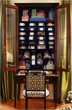 how i'd love to have this very secretary in which store all my stationery and calling cards