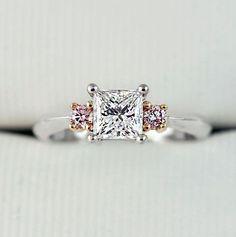 Pink Diamond Rings Australia - Solid Gold Diamonds Perth & Adelaide Pink Diamond Engagement Ring, Trilogy Engagement Ring, Pink Diamond Ring, Engagement Rings, Argyle Pink Diamonds, Perth, Solid Gold, Gems, Australia