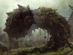 Gravetiller Wurm - Art by Slawomir Maniak