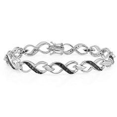 #blackdiamondgem 1.00 Carat (ctw) Sterling Silver Round Black Diamond Ladies Infinity Heart Tennis Link Bracelet 1 CT by DazzlingRock Collection - See more at: http://blackdiamondgemstone.com/jewelry/bracelets/tennis/100-carat-ctw-sterling-silver-round-black-diamond-ladies-infinity-heart-tennis-link-bracelet-1-ct-com/#!prettyPhoto
