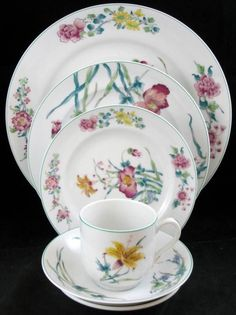 Mottahedeh LADY CHARLOTTE'S LILY 5 Piece Place Setting BRIDAL REGISTRY item A+ #MOTTAHEDEH