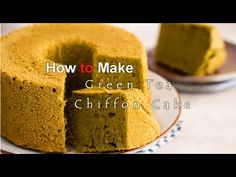 How to make Green Tea Chiffon Cake http://justonecookbook.com/blog/recipes/green-tea-chiffon-cake/