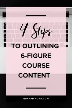 New to creating online courses? This post will walk you through a simple 4 step process to creating epic content for a high converting course Content Marketing, Online Marketing, Business Marketing, Media Marketing, Marketing Calendar, Marketing Quotes, Digital Marketing, Business Tips, Online Business