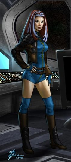 Arianna Shan - great granddaughter of Bastille Shan- a hero of the old republic- little time as a jedi but the life of a smuggler was more appeared more thrilling.