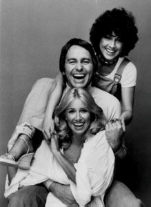Threes Company: Joyce DeWitt, John Ritter and Suzanne Sommers Movie Stars, Movie Tv, John Ritter, Three's Company, Old Tv Shows, Sex And Love, Classic Tv, The Good Old Days, Childhood Memories