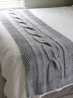 River of Dreams – New Chunky Cable Bed Runner Knitting Pattern! I'm so excited to introduce my new chunky, cable bed runner knitting pattern – River of Dreams ! River of Dreams bed runner knitting patte… Knitting Terms, Knitting For Charity, Cable Knitting, Knitting Needles, Knitting Projects, Knitting Stitches, Free Knitting, Knitting Basics, Sock Knitting