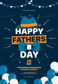 Fathers Day PSD Flyer Template and more than Premium PSD flyer templates for event, loud party or successfull business.
