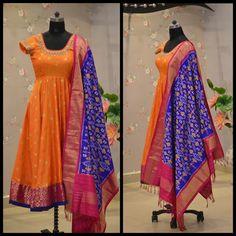 Salwar Designs, Lehenga Designs, Kurti Designs Party Wear, Dress Designs, Kalamkari Dresses, Ikkat Dresses, Girls Frock Design, Long Dress Design, Indian Long Frocks