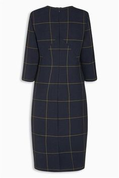 Buy Navy Check Dress from the Next UK online shop