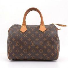 Louis Vuitton Brown Monogram Canvas Speedy 25 City Hand Bag