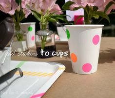 Graduation decorated paper cups!  See more party ideas at CatchMyParty.com!