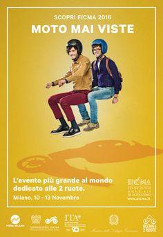 Ognuno ha una #moto dentro di sé. Vieni a scoprire qual è la tua. Al via la nuova campagna per la 74esima edizione di #Eicma. #motomaiviste. State connessi!  #Eicma2016 #Motolive #Occhioalle2ruote #motociclismo