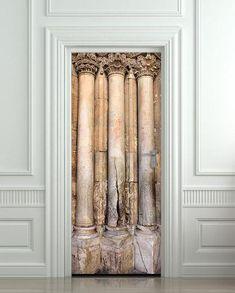 Door STICKER columns column foot antiquity antiquities mural decole film  self-adhesive poster 30