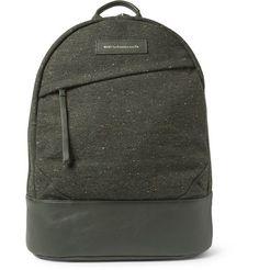 WANT Les Essentiels de la Vie Kastrup Leather-Trimmed Tweed Backpack       MR PORTER