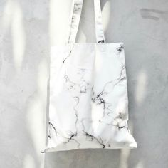 Soft White Marble High Quality Canvas tote bag by MoriStore