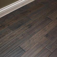 hardwood floors White Oak Charcoal Briquette x Hand Scraped Solid Hardwood Flooring