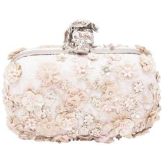 Pre-owned Alexander Mcqueen Floral Applique Skull Pink Clutch (€1.340) ❤ liked on Polyvore featuring bags, handbags, clutches, alexander mcqueen, purses, pink, pink hand bags, pink clutches, pink handbags and skull clutches