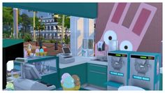 Freezer Bunny Ice Cream Stand V2.0 Retail Build at SimDoughnut