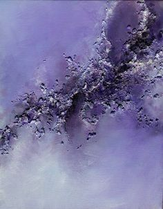 Purple Abstract Sky Art...Original Abstract Modern Contemporary Art (15,7 x 19.6) violet purple acrylic paint, textured,signed, redy to hang