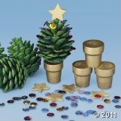 DIY Kids - #Christmas Tree, pine cone and small terra cotta pot (skip the kit)