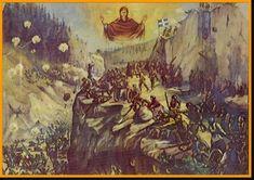 Η Αγία Σκέπη της Θεοτόκου και το έπος του 1940   ΑΡΧΑΓΓΕΛΟΣ ΜΙΧΑΗΛ Christian Faith, Painting, Art, Virgin Mary, Videos, Youtube, Art Background, Painting Art, Kunst
