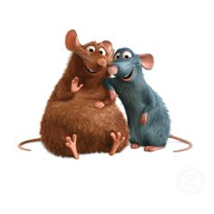 Famous rats. Emile and Remy from Ratatouille!
