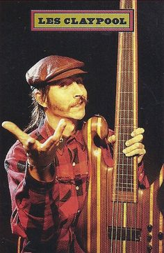 Les Claypool - He may be the most technically skilled bass player. His ferocious slap bass and tapping style might be overbearing, but the skill behind it is undeniable. Les Claypool, Music Is Life, My Music, Rush Albums, Korn, Custom Bass Guitar, Instruments, Theatre Problems, Blues Rock