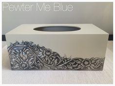 Tissue box by Yvonne at Pewter Me Blue www.fb.com/pewtermeblue