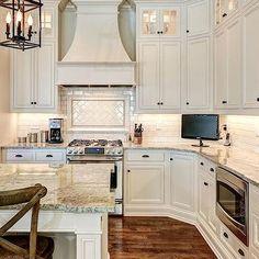 Ivory Kitchen Cabinets, Transitional, kitchen, Stonecroft Homes