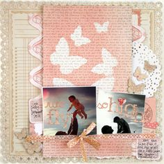 layout by Stephanie Howell featuring our Mister Huey's Color Mists