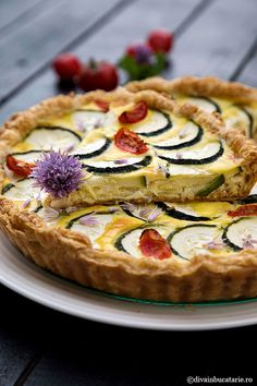 Vegetable Pizza, Quiche, Zucchini, Deserts, Pie, Cooking Recipes, Vegetables, Breakfast, Food