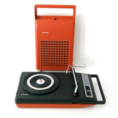 Vintage Philips 113 Playsound portable record player by pukpuk