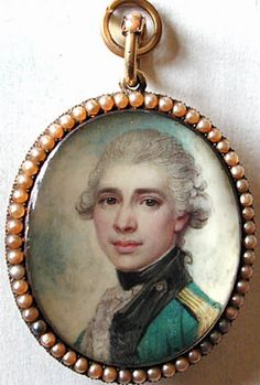 Miniature portrait of a young Banastre Tarleton, by Richard Cosway.