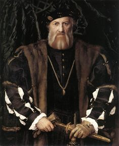 Hans Holbein (1497 - 1543) Portrait of Charles de Solier, Lord of Morette 1534 - 1535 Gemäldegalerie, Dresden, Germany (Painting, Oak, 93 x 75 cm)