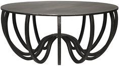 :: NOIR :: Circular Coffee Table, Coffee Table Design, Coffee Table With Storage, Round Coffee Table, Salvaged Furniture, Steel Furniture, Rustic Furniture, Eclectic Furniture, Furniture Nyc