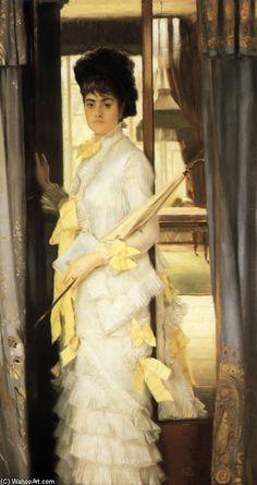 James Jacques Joseph Tissot >> huile sur toile >> Portrait de Miss Lloyd