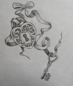 Key To My Heart Tattoos | Key
