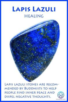 crystal healing Lapis lazuli has been appreciated for its bright blue color for over 6000 years. Depending on where it is mined, lapis lazuli can be pale to dark blue with pale white o Chakra Crystals, Crystals Minerals, Crystals And Gemstones, Stones And Crystals, Gem Stones, Blue Crystals, Crystal Guide, Crystal Magic, Crystal Uses