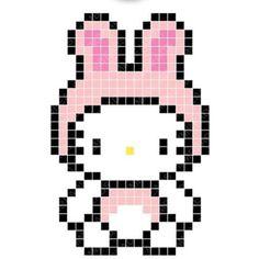 Bunny Hello Kitty Perler Bead Pattern