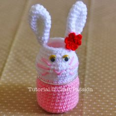 Crochet craft using Vitagen bottle