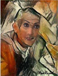 لوحة للفنانة اية رجب