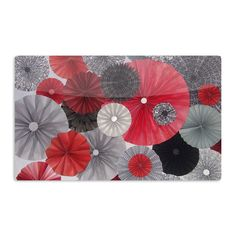 Kess InHouse Heidi Jennings 'Kyoto' Red Black Artistic Magnet                                                                                                                                                     Plus