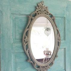 Baroque Mirror, French Bathroom Mirror Shabby Chic, Ornate Mirror - Hallstrom Home - 1