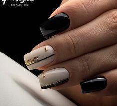 and Beautiful Nail Art Designs Fancy Nails, Trendy Nails, Cute Nails, My Nails, Orange Nail Designs, New Nail Designs, Acrylic Nail Designs, Classic Nails, Geometric Nail