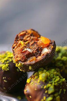 bouchée amandes et fruits secs