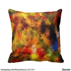 intriguing colorful pattern throw pillow