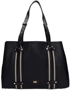 77bdb7d2941e Michael Kors Black Grained Leather Tote Bag Michael Kors Black, Gym Bag,  Ootd,