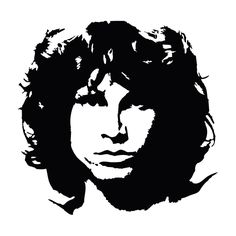 Jim Morrison Portrait Car Laptop Window Bumper Vinyl Decal Sticker #Oracal