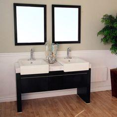 "57 ¾"" Bellaterra Home Bathroom Vanity 804375 #BellaterraHome #HomeRemodel #BathroomRemodel #BlondyBathHome #BathroomVanity"
