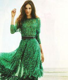emerald dress #green